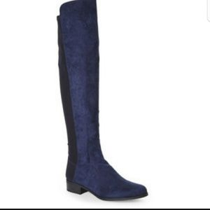 UNISA Blue Suede Riding Boots